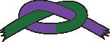 Grønt/lilla bælte