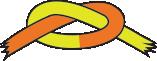 Orange/gult bælte
