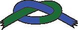 Blåt/grønt bælte