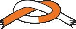 Orange/hvidt bælte